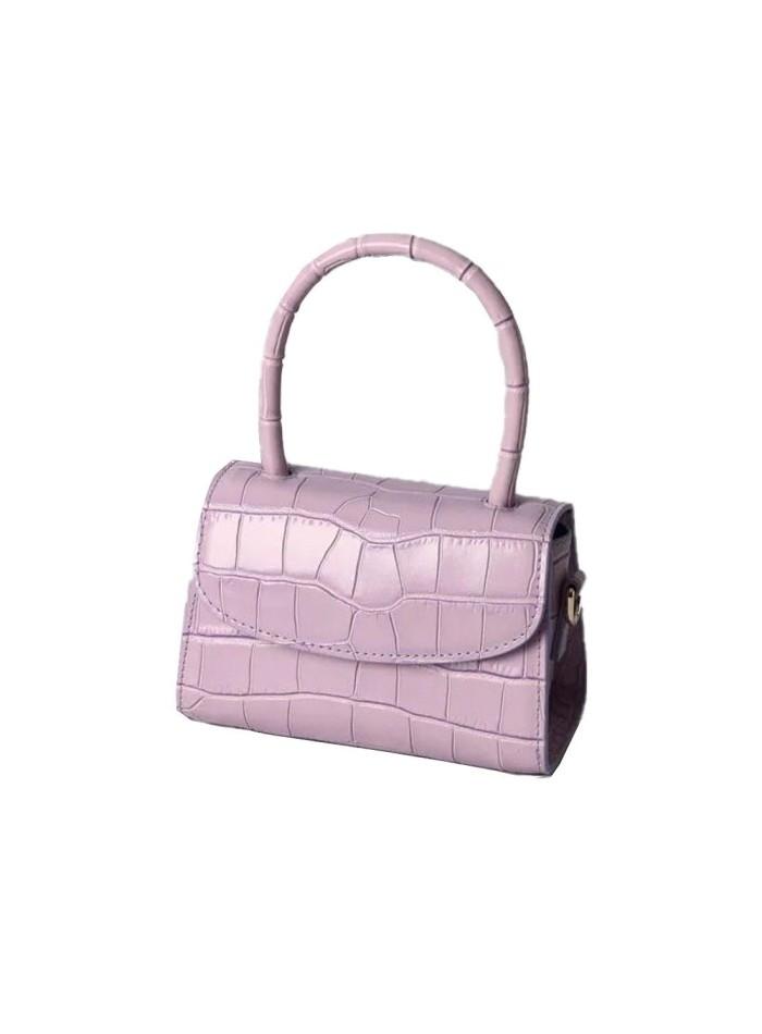 Mini mauve leather handbag Susana Kumar - 1