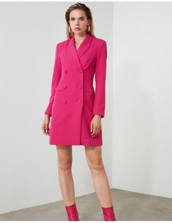 Fuchsia blazer dress
