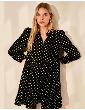 Short polka-dot dress