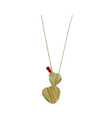 Collar geométrico dorado