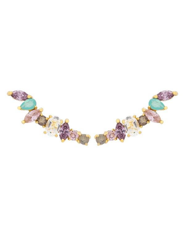 Natural stone party earrings - CLIMBER IRINA