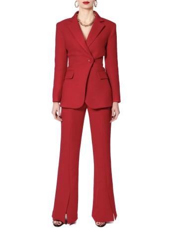 Pantalón largo rojo campana con abertura de AGGI