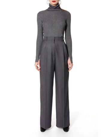 Pantalón de traje de corte masculino Gwen Downtown en gris en INVITADISIMA