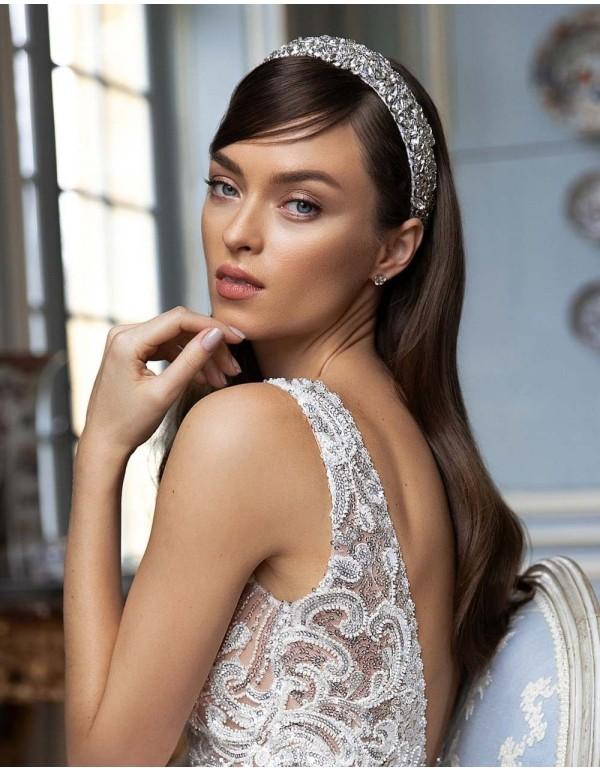 Diadema de novia con cristales