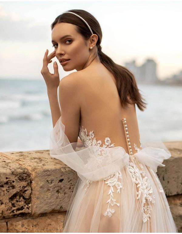 Diadema de perlitas para novia