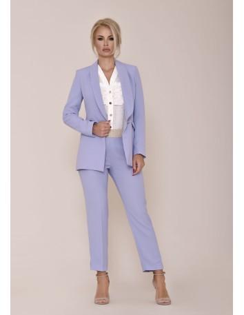 Conjunto de chaqueta y pantalón con cinturilla elástica dorada nuribel - 1