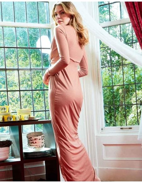 Evening dress with plunging V-neckline and slit Sarvin - 3