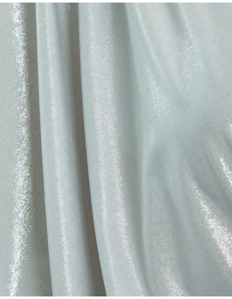 Vestido de cóctel plateado con mangas drapeadas y escote en pico Sarvin - 5