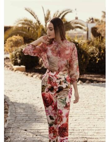 Blusa de organza con estampado floral CAYRO - 1