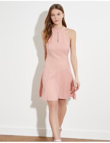 Cocktail dress with halter neckline and opening Lauren Lynn London - 1