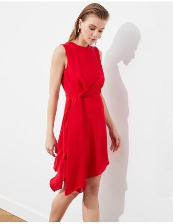 Red chiffon cocktail dress Lauren Lynn London - 1