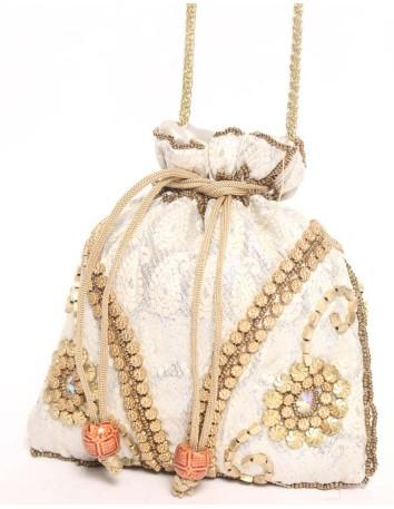 Ethnic gold rhinestones handbag Lauren Lynn London Accessories - 1