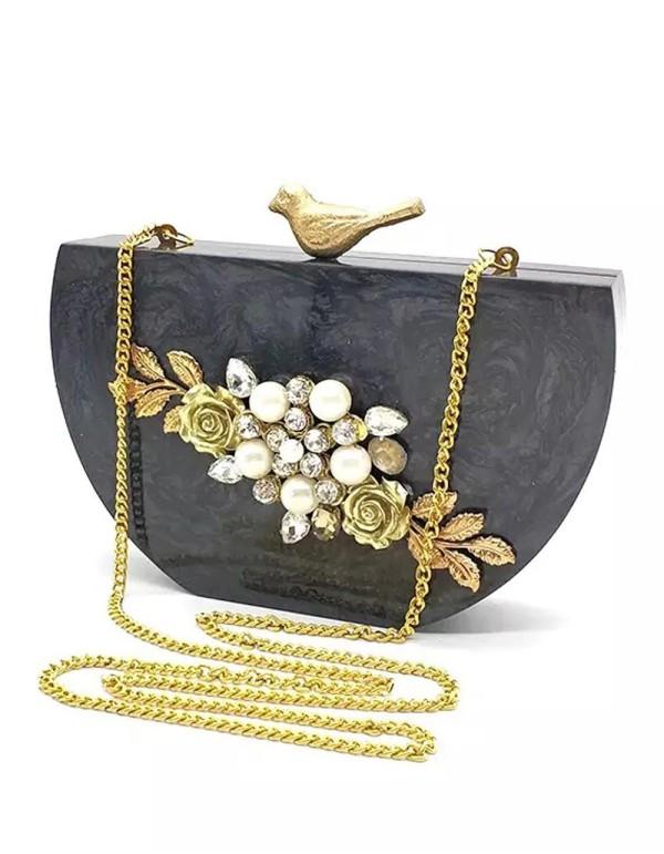 Bolso de fiesta joya con cierre de pajarito Lauren Lynn London Accessories - 1