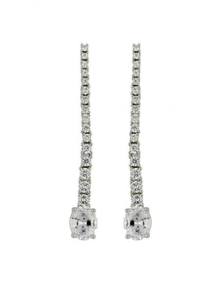 Long earrings with 17 zircons Bombay Sunset - 7