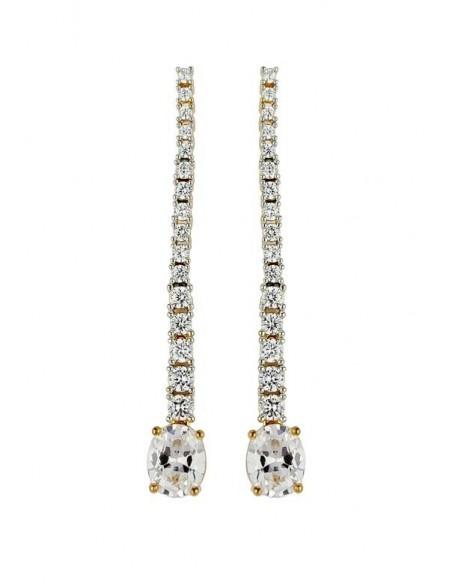 Long earrings with 17 zircons Bombay Sunset - 8