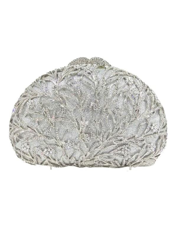 Bolso joya con pequeñas flores de cristal de Swarovski para invitada Lauren Lynn London Accessories - 5