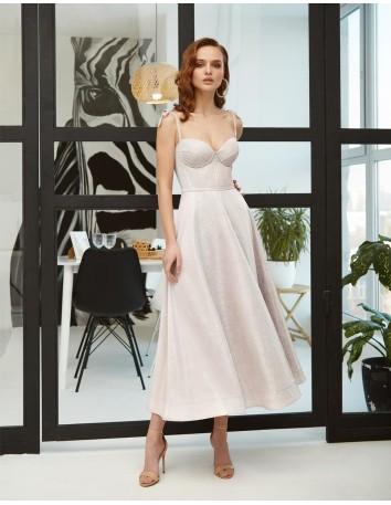 Vestido de fiesta midi con corpiño y falda de vuelo Ariamo Fashion Group - 1