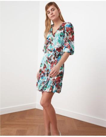 Vestido corto con estampado floral y escote en pico Lauren Lynn London - 2