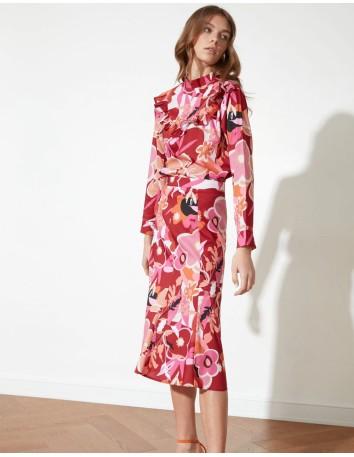 Floral print cocktail dress with long sleeves Lauren Lynn London - 2