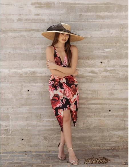 Vestido estampado de flores de tirantes y detalle nudo CAYRO - 2