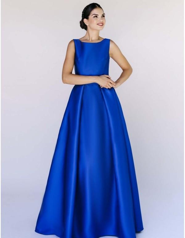 vestido-de-mikado-con-espalda-de-encaje-color-azul-tinta Victoria Victim - 2