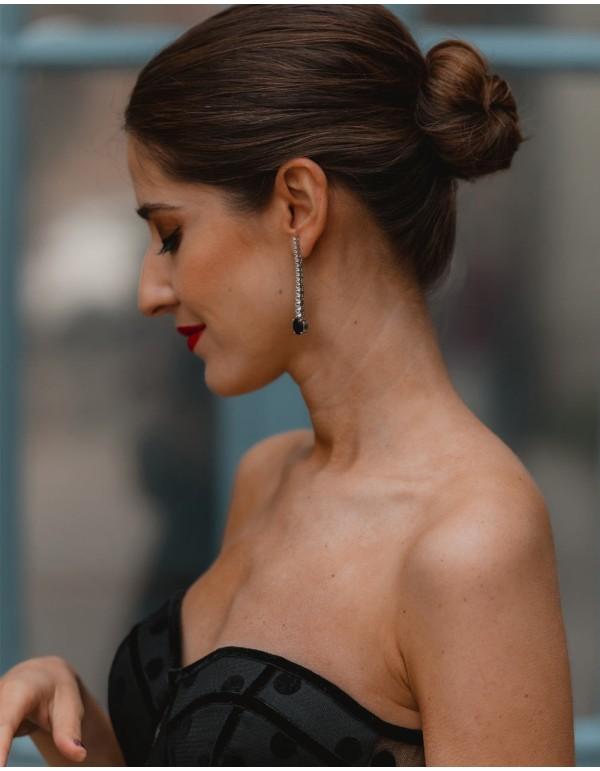 long earrings with 17...