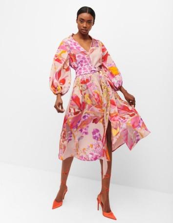 Printed midi dress with belt from Cyrana Furs - 2