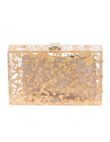 Pearlized clutch bag with inside pocket Lauren Lynn London Accessories - 1
