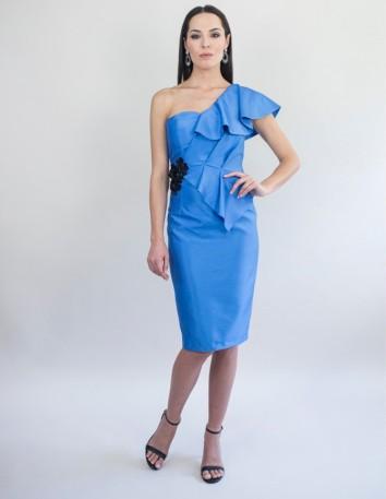 vestido-de-mikado-salvaje-con-aplicacion-joya-largo-desde-la-cintura-68-cm-color-anil Victoria Victim - 1