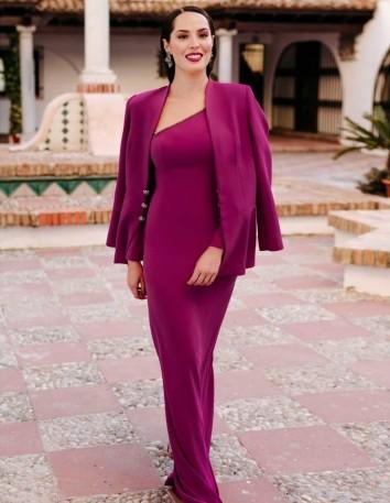 Chaqueta de crepe con botones joya. El vestido se vende por separado. Victoria Victim - 1