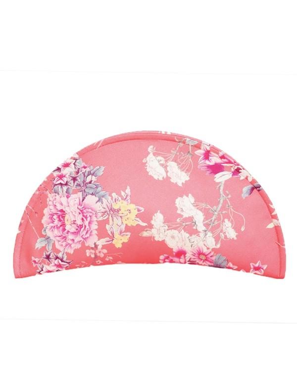 Clutch de rafia rosa con estampado floral D'nue For Ladies - 1