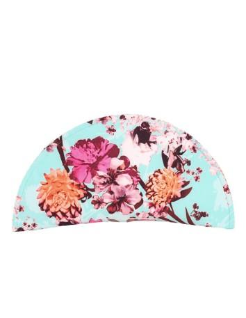 Cartera de rafia azul claro con estampado floral D'nue For Ladies - 1