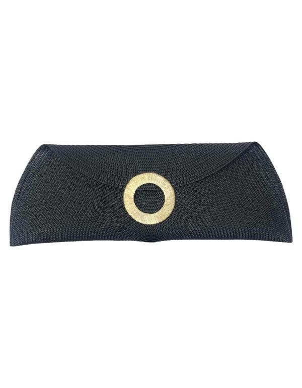 Raffia hoop horn bag for events