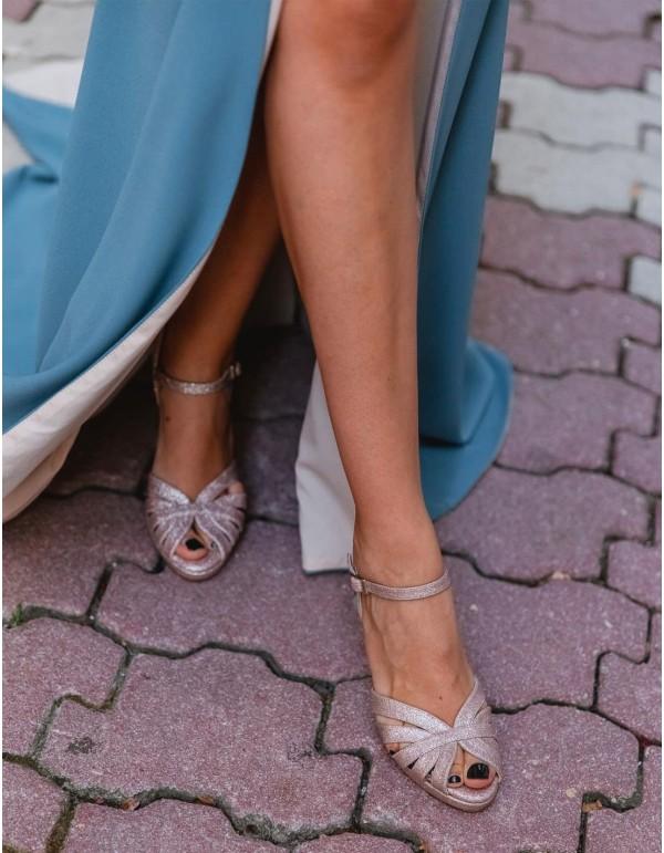 Sandalias de fiesta con diseño brillo - Invitada Perfecta en INVITADISIMA
