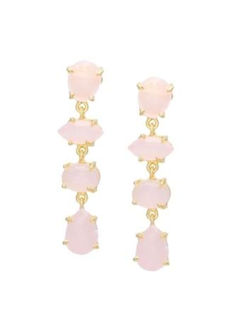 Women's earrings with pink hydrothermal stones Welowe - 1
