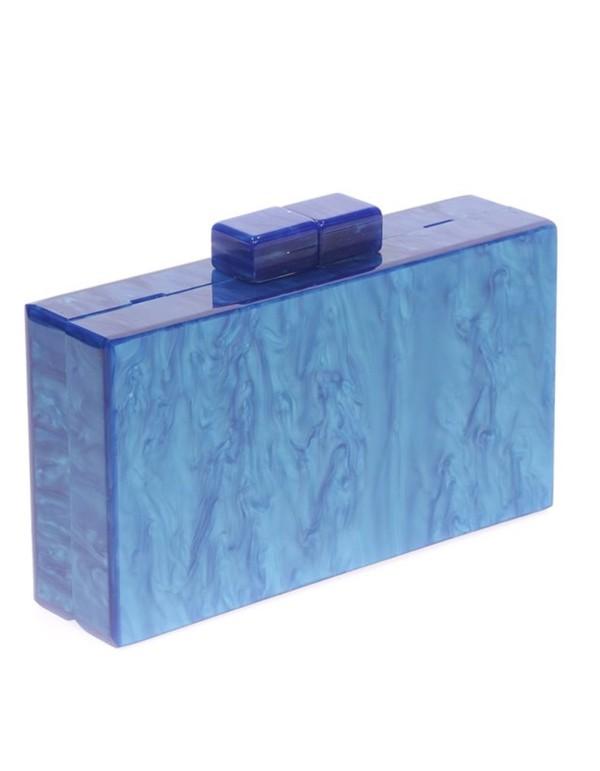 Bolso de fiesta nacarado azulón