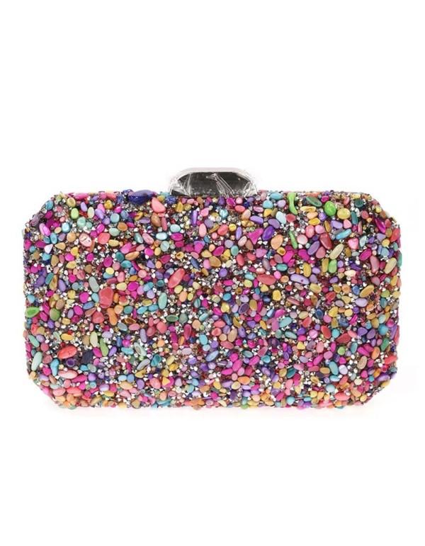 copy of Multicolor rhinestone clutch bag Lauren Lynn London Accessories - 1