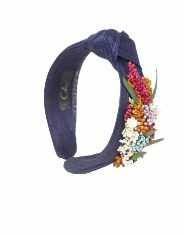 Navy blue headband with...