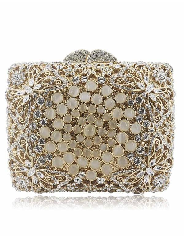 Bolso joya realizado con cristal de Swarovski y mariposas Lauren Lynn London Accessories - 1