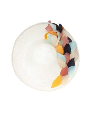 Pamela plato con plumas de colores de Cala by Lilian