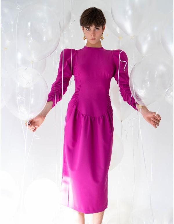 Vestido de fiesta ochentero con mangas abullonadas GINAMADI - 1