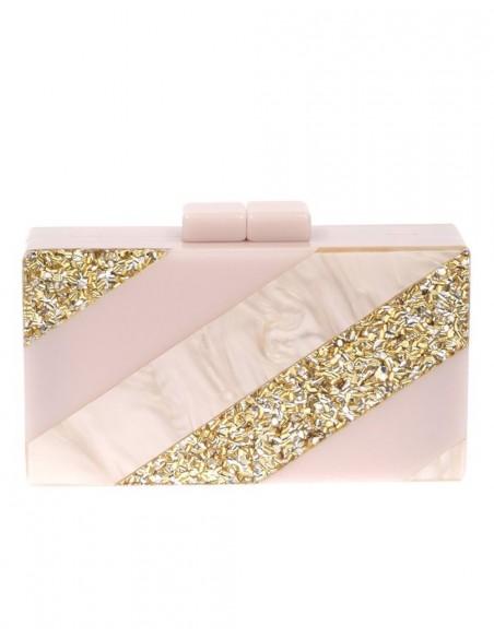 Bolso de fiesta nacarado efecto perla y dorado Lauren Lynn London Accessories - 1