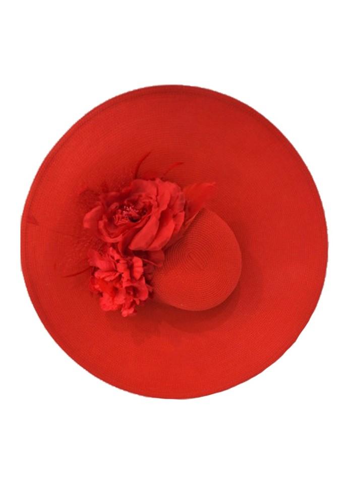 Pamela roja con flores rojas Lamatte - 1