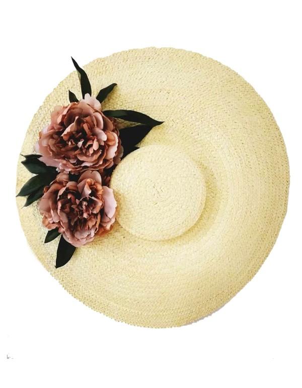 Pamela de paja con flores Lamatte - 1