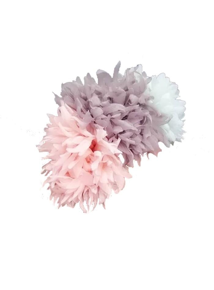 Pastel pompom headdress
