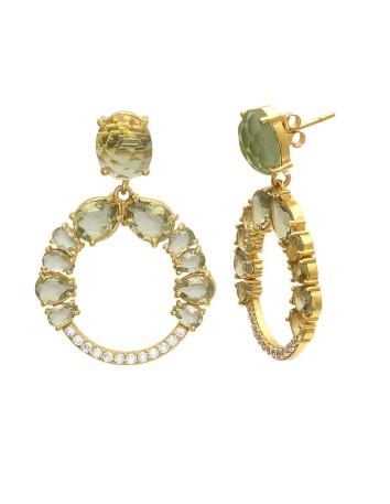 Hera green Earrings