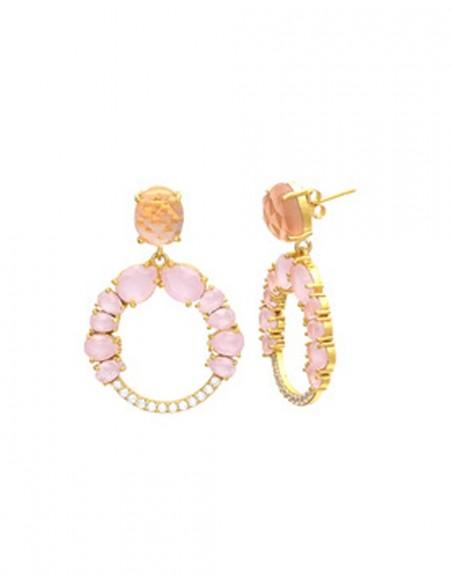 piedras de cuarzo rosa y circonitas de welowe