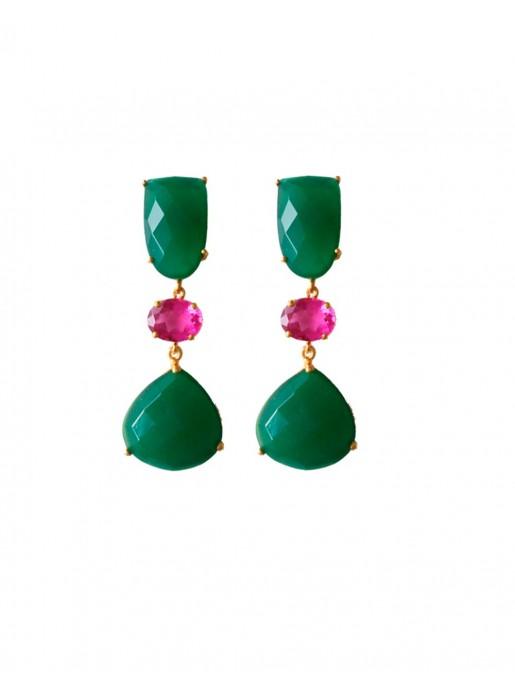 Electra Green Earrings