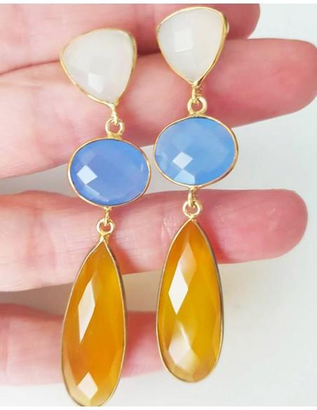 Mustard Line Earrings Welowe - 2
