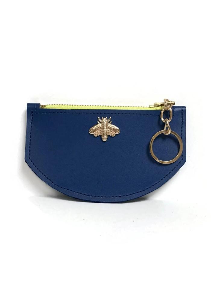 Klein blue wallet with bee detail Angela Valentine Handbags - 1